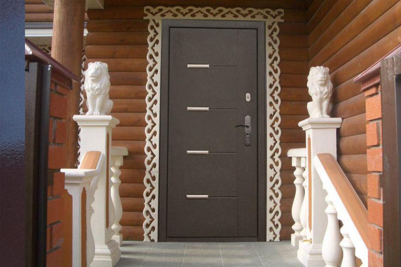 Теплые металлические двери в частный дом