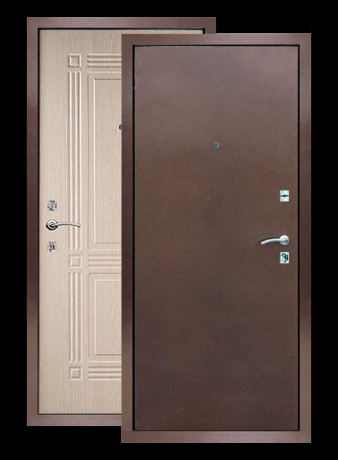 Входная дверь Триумф РФ белёный дуб, снаружи