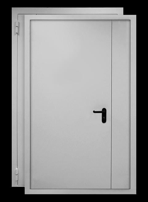Противопожарная распашная дверь EI60 RAL 7035