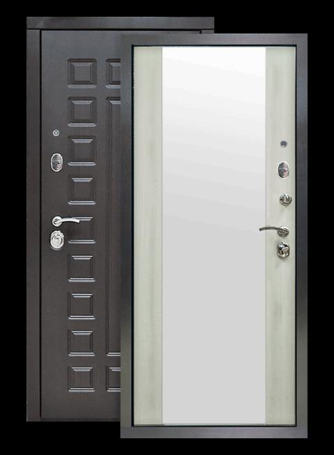 Дверь S01 2К венге/лиственница белая зеркало