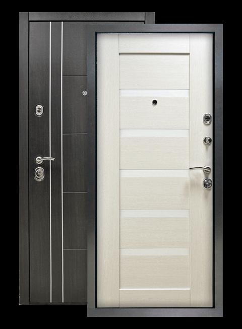 Дверь Техно 01 3К винорит венге/белый венге