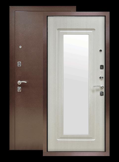 Дверь Патриот Зеркало лиственница беленая
