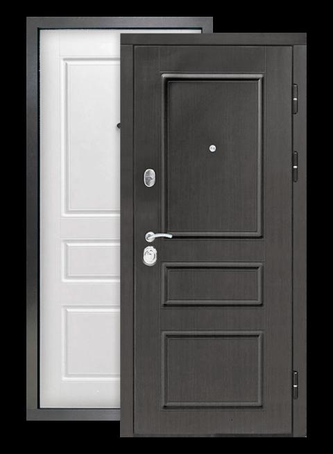 Дверь Гранд 2К винорит венге/белый RAL 9003, снаружи