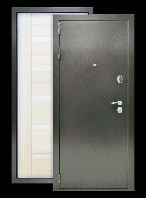 Дверь Люкс 3К лиственница белёная, снаружи
