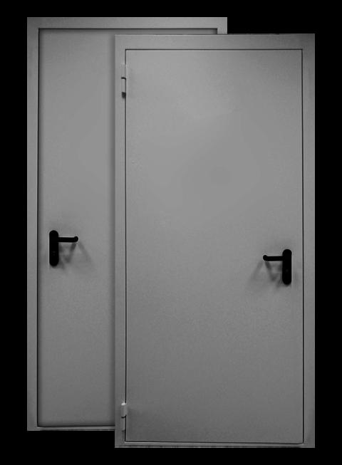 Противопожарная дверь EI60 RAL 7035, снаружи
