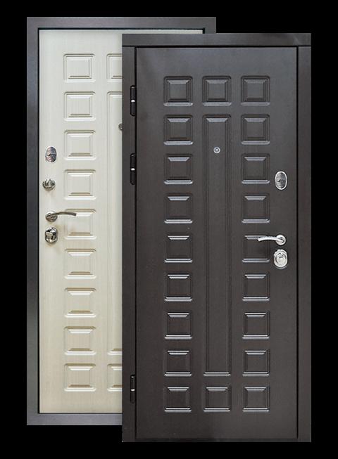 Дверь S01 винорит венге/лиственница белая, снаружи