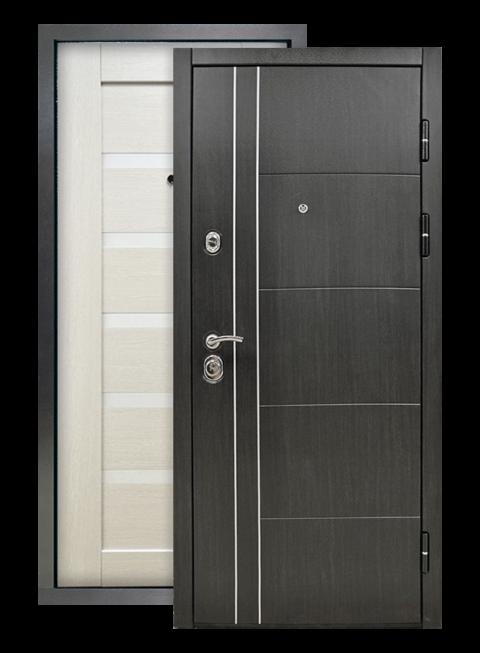 Дверь Техно 01 3К винорит венге/белый венге, снаружи