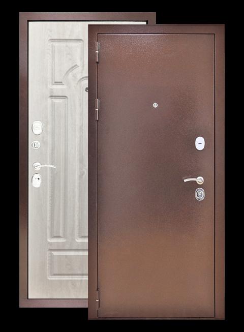 Дверь Титан 3К арка сосна белая, снаружи