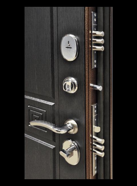 Дверь Троя 3К венге, все замки
