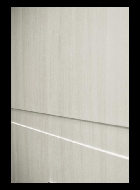 Дверь Патриот Зеркало лиственница беленая, МДФ-панель
