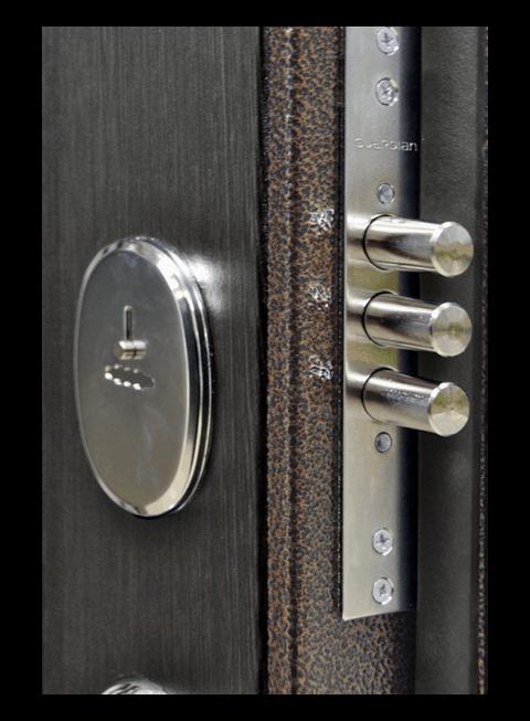 Дверь Троя 3К венге, сувальдный замок