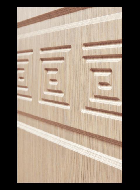 Дверь Троя 3К белёный дуб, МДФ-панель
