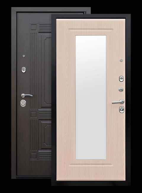 Дверь Викинг белёный дуб зеркало