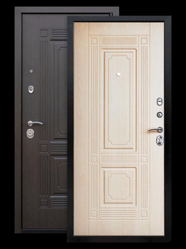 Дверь Викинг венге/белёный дуб ЕвроСтиль