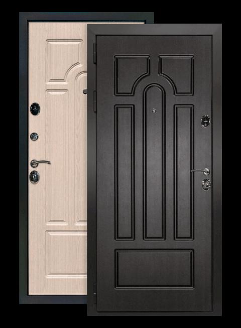 Дверь Эврика венге белёный дуб, снаружи