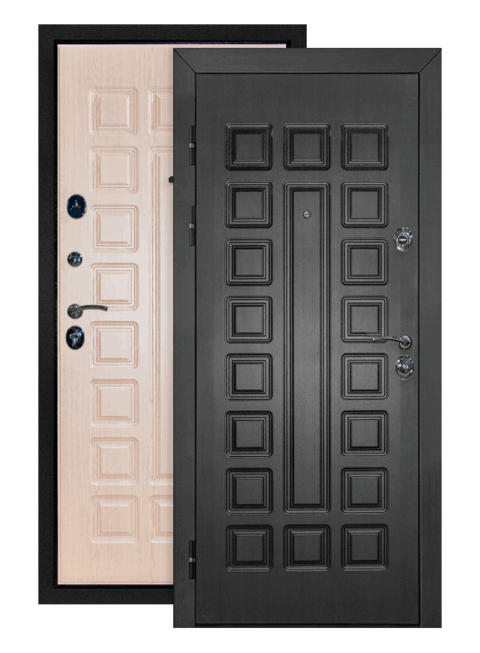 Дверь Сенатор венге белёный дуб, снаружи