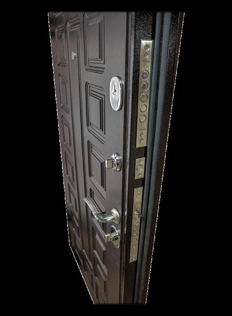 Дверь Триумф венге, замки и внутренняя МДФ-панель