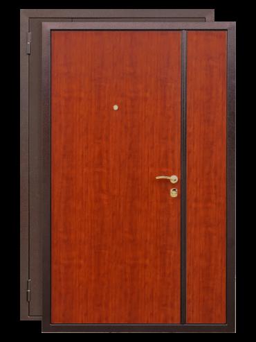 Дверь двухстворчатая итальянский орех
