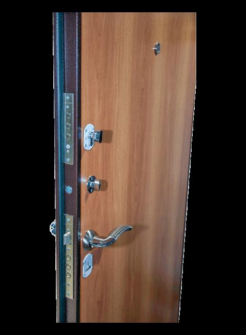 Дверь Эконом миланский орех Армада, МДФ-панель и замки