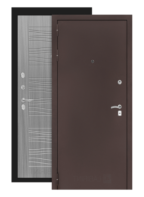 дверь классик 06 медный антик сандал серый