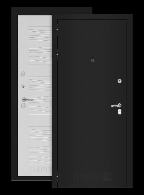 дверь Классик 06 шагрень черная/белое дерево
