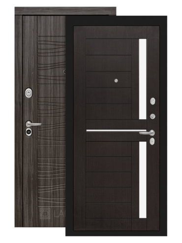 дверь scandi 02 венге белое стекло