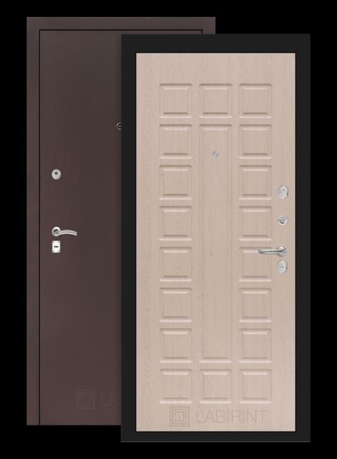 Дверь Классик 04 антик медный/беленый дуб