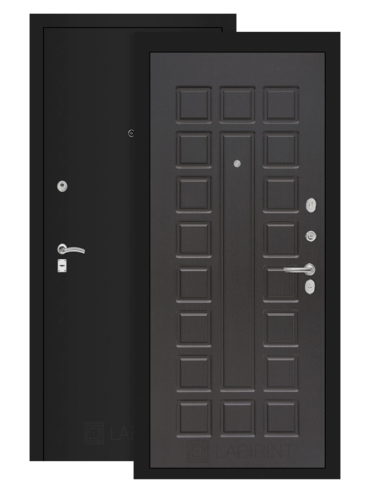 дверь Классик 04 шагрень черная/венге