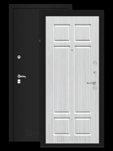 дверь Классик шагрень черная/кристалл вуд