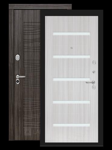 дверь Сканди 01 сандал белый стекло белое