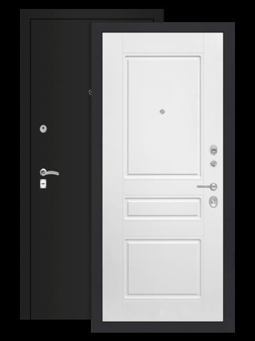 дверь классик шагрень чёрная белый софт