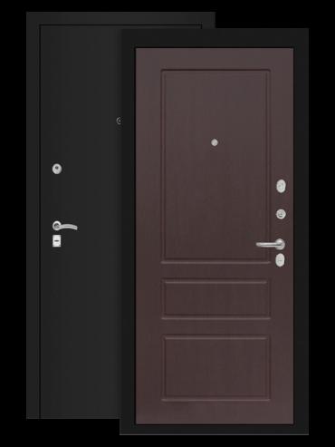 дверь классик шагрень чёрная орех премиум