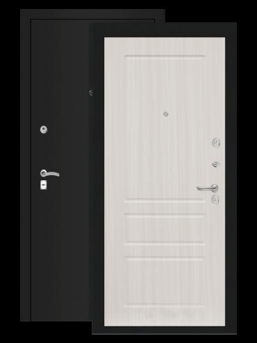 дверь классик шагрень чёрная сандал белый