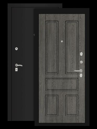 дверь классик шагрень чёрная дуб филадельфия графит