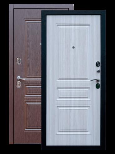 Входная дверь Экстра лиственница шоколад лиственница белая