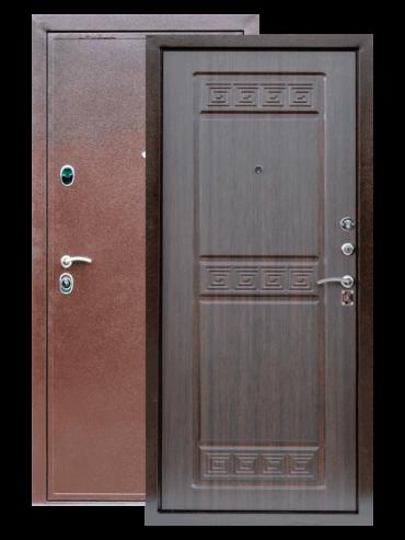 Входная дверь Троя венге тиснёный