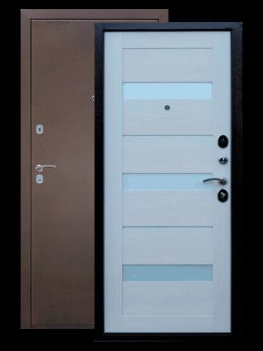 Дверь входная Прага лиственница белая