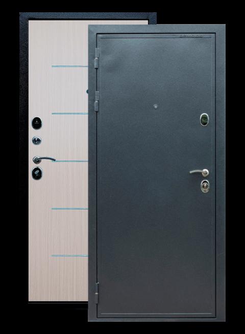 Дверь входная Престиж венге светлый с молдингами