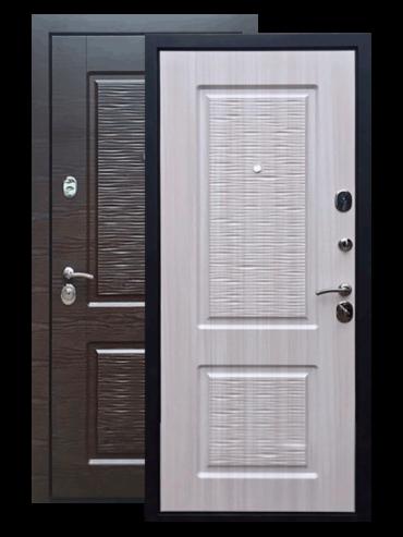 Дверь входная Лайн 2 венге/сандал белый