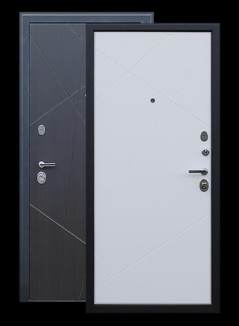 Дверь входная Вектор венге/пастель