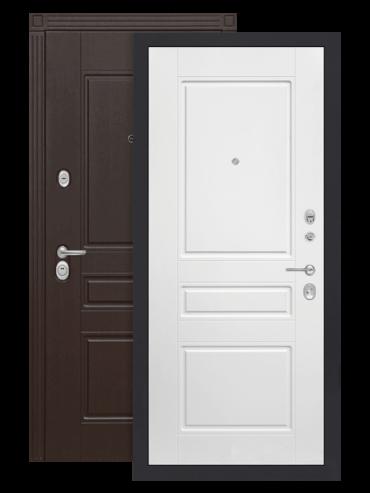 Дверь входная Мегаполис 03 белый софт внутри