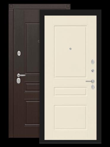 Дверь входная Мегаполис 03 Крем софт внутри
