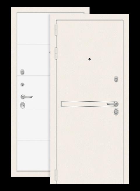 Дверь входная Лайн вайт 13 Белый софт снаружи