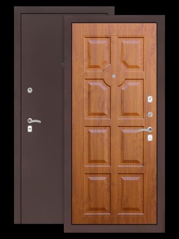 Дверь входная Классик медный антик 17 Золотой дуб, внутри