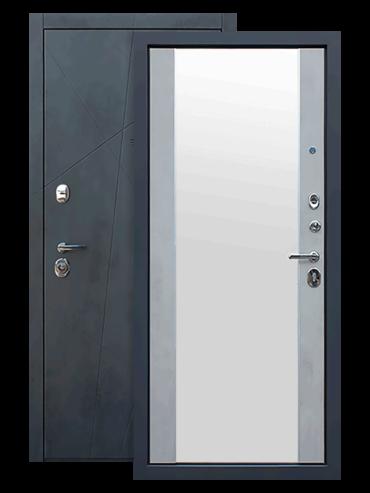 Дверь входная АСД Дуэт Б с зеркалом внутри