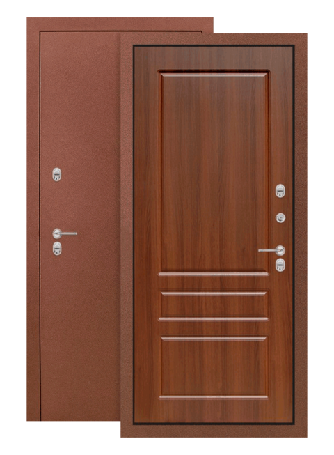Дверь входная Термо магнит 03 Орех бренди, внутри