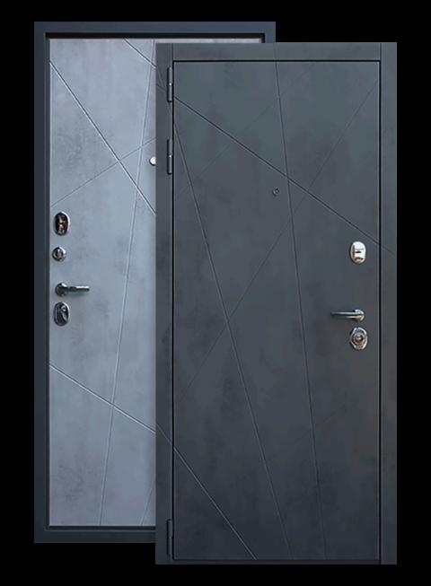 Входная дверь Дуэт Б Бетон Светлый,