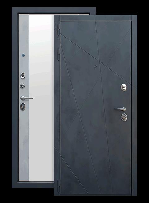 Дверь входная АСД Дуэт Б с зеркалом снаружи