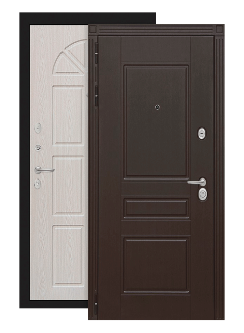 Входная дверь Мегаполис 15 Алмон 25, снаружи