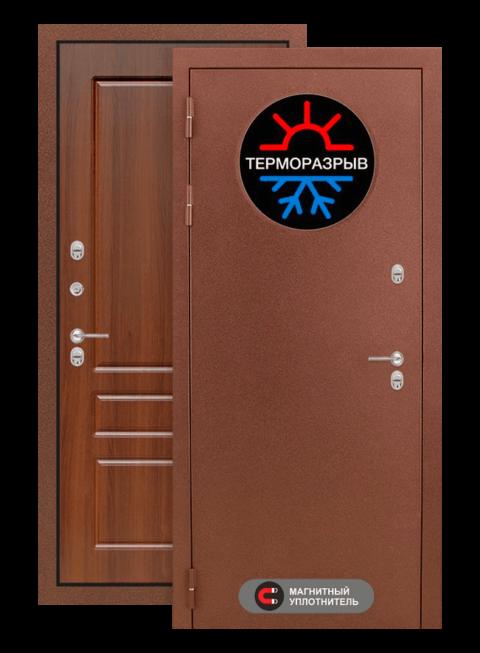 Дверь входная Термо магнит 03 Орех бренди, снаружи
